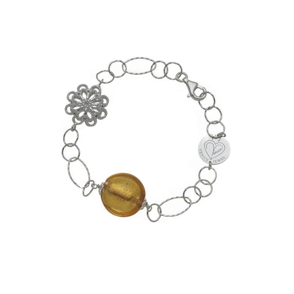 bracciale argento e vetro di murano made in italy