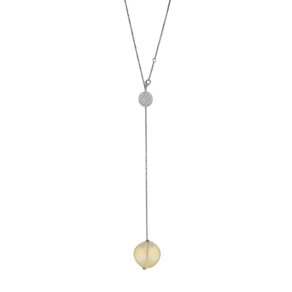 collana argento e vetro di murano made in italy